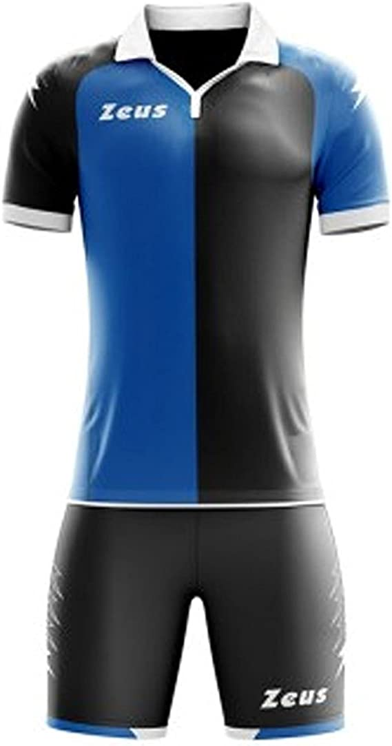 Zeus Kit Gryfon Futbolín Completo Camiseta y pantalón Deportivo Torneo - Home Shop Italia (M, Negro-Royal): Amazon.es: Deportes y aire libre