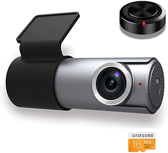 Goluk T2 Mini WI-FI Dash Cam Compact Ultra HD 1080P 152/° WDR Car Dash Cam with G-sensor for Motion Detection Parking Monitor Loop Recording ,16 GB SD card Included