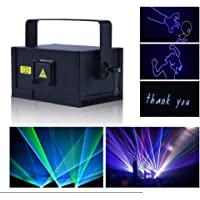 V-Show Mini RGB Laser Lights Animation Laser Light for Party,DJ Stage Lighting, 12CH, DMX-512 Control, Stage Effect Stage Machine Best For Disco Wedding Family Party Clubs Xmasetc (1w)