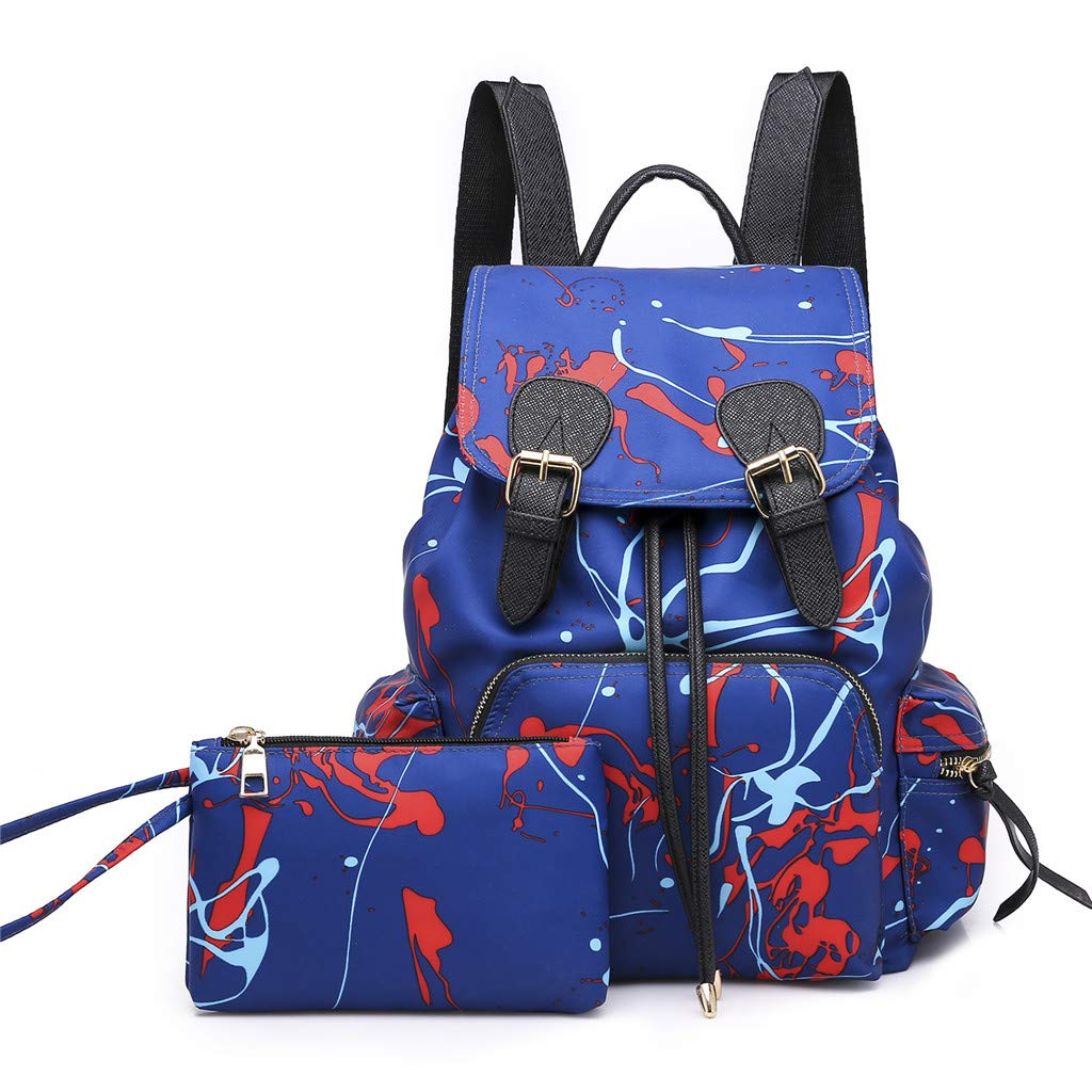 Color : Green, Size : 27CM32CM18CM ZCY Nylon Womens Backpack Waterproof Fashion Outdoor College Shoulder Bags Casual Multi-Pocket Daypack for Teenagers
