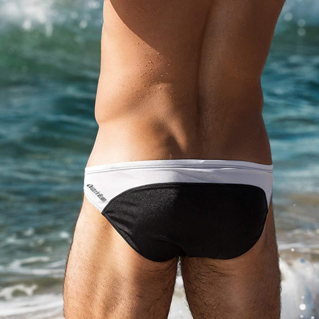 Moda Uomo Pantaloni Traspiranti Beach Stripe Running Biancheria Intima da Bagno Uomo Pantaloni da Spiaggia Costumi da Bagno Maschi Travel Short Pantaloncini Elegante Retro Maschio Mare da Nuoto