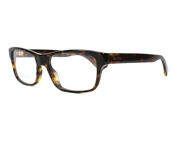 Amazon.com: Gucci GG0006O - Gafas rectangulares de plástico ...