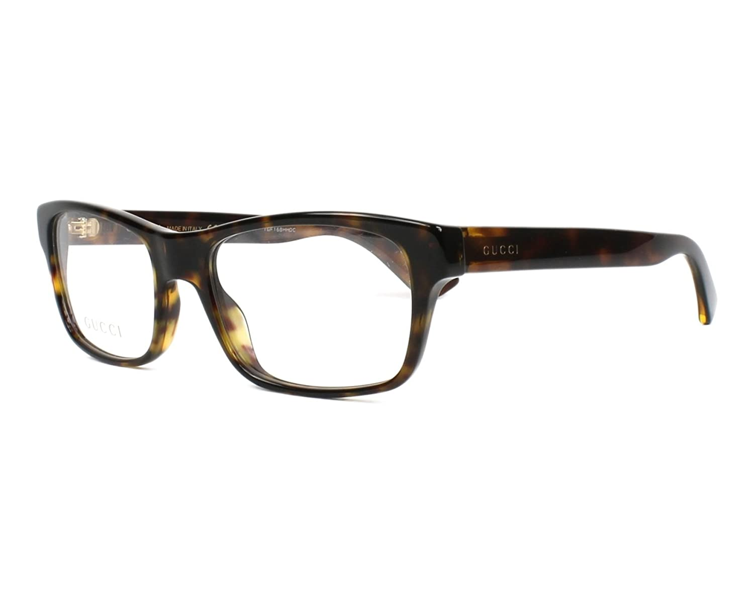 64b3182826b Amazon.com  Eyeglasses Gucci GG 0006 O- 009 AVANA    Clothing