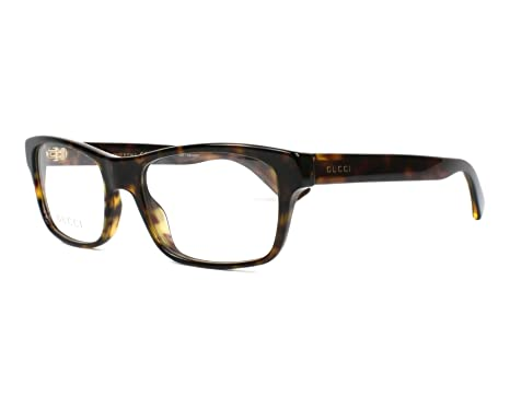 2f4856f1035e Amazon.com  Eyeglasses Gucci GG 0006 O- 009 AVANA    Clothing
