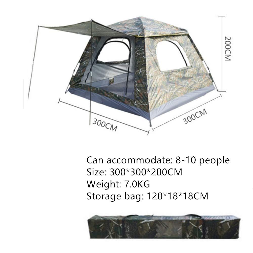 LIJUN 8-10 Personen, die extra große quadratische Zelte Zelte Zelte verstärken B07PCJ3H39 Kuppelzelte König der Menge 9a2f93