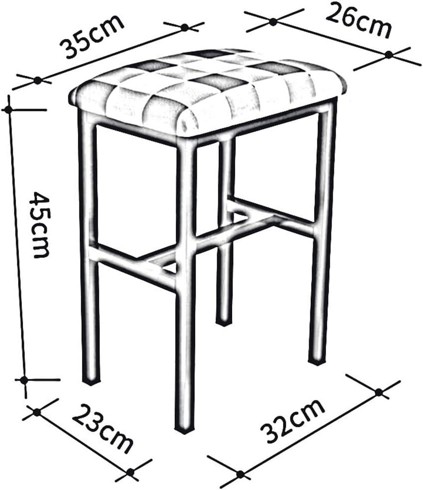 Dall Poufs Et Repose-Pieds Ménage Tabouret en Métal Mode Simple Tabouret Canapé Tabouret Adulte, 4 Couleurs (Couleur : T4) T1