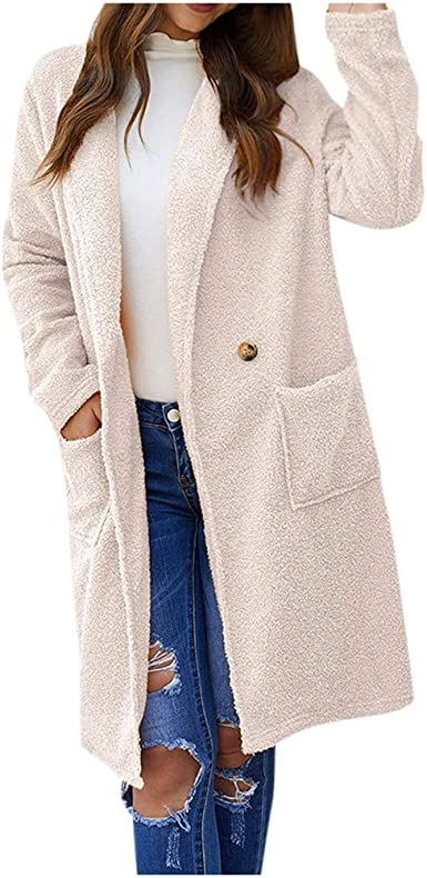 amazon manteau long beige femme