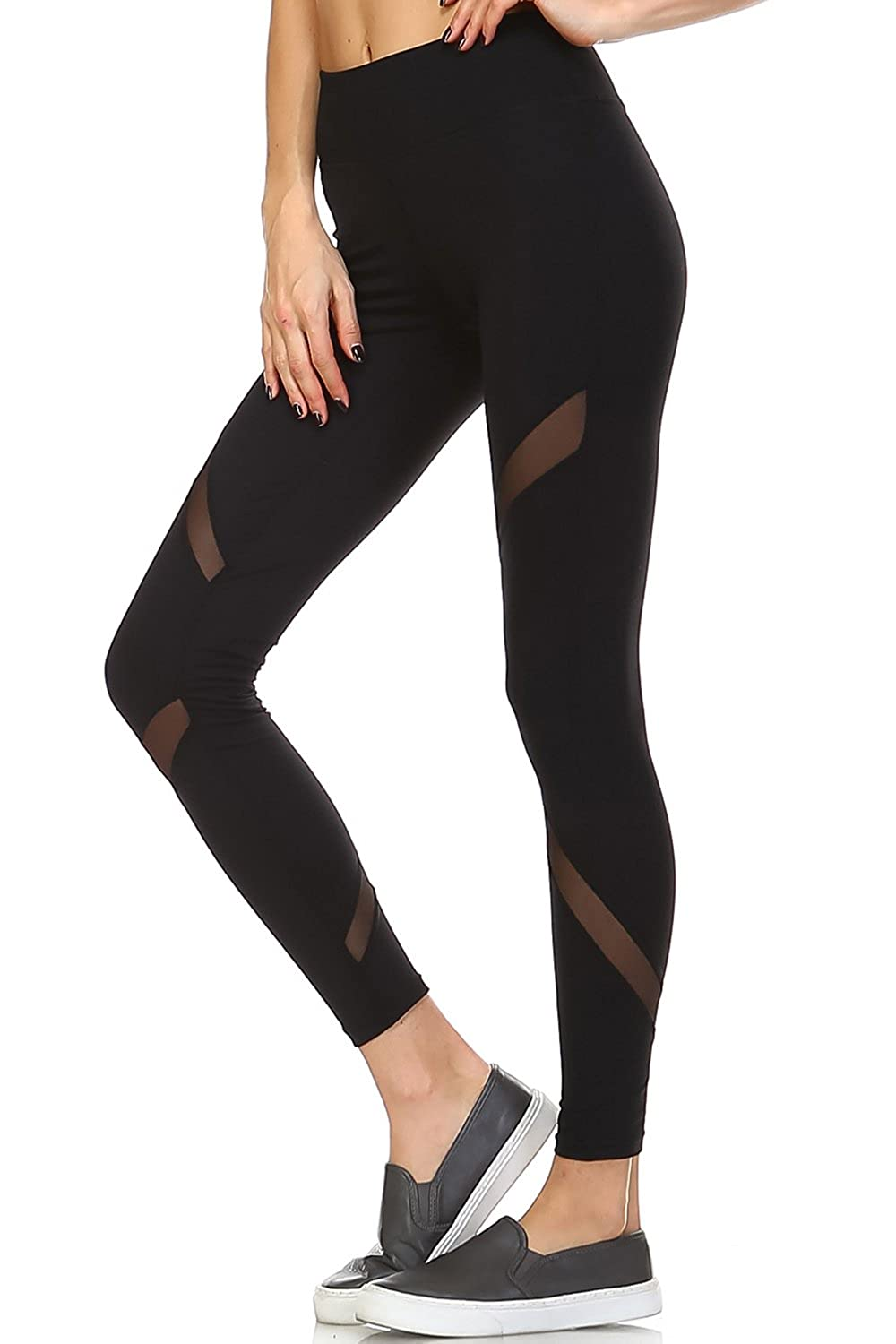 82054994a85246 Mono B Women's Performance Activewear - Yoga Leggings with Sleek Contrast  Mesh Panels at Amazon Women's Clothing store: