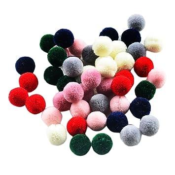 100pcs Mini Pompoms bunte Filzkugeln Bommel Set für Figuren und Dekoration