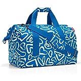 reisenthel Allrounder M Medium Weekender Bag, Versatile 6-Pocket Padded Duffel, Funky Hearts