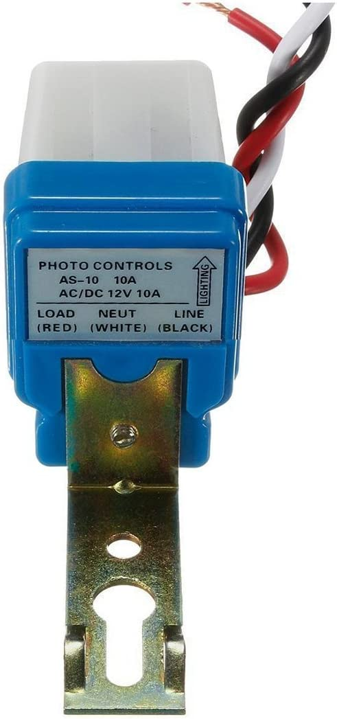 TOOGOO Ac Interrupteur Cr/épusculaire Lampe Dc 12V 10A Interrupteur Cr/épusculaire