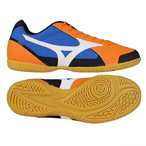 Mizuno - Botas de fútbol para hombre orange - blue - black Talla 45  Amazon. es  Deportes y aire libre 7b88f688f3452