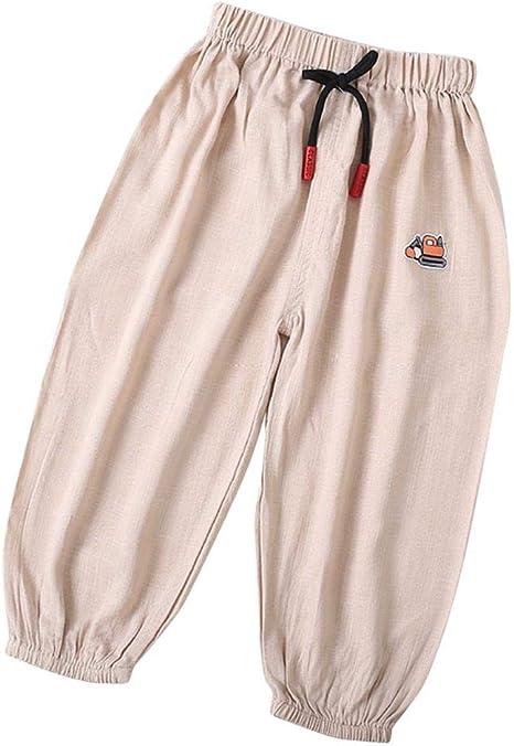 Pantalones largos de bebé Bloomers Niño suave Algodón Lino Pantalones Harem Pantalones sueltos de verano Parte de abajo para niños Niños Niñas Edades 1~3(100-# 2): Amazon.es: Bebé