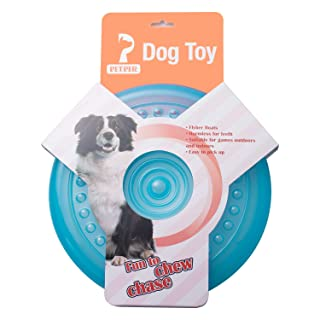 "Petper CW-0015 Dog Flying Disc Toy, Dog Frisbees Durable Pet Toy 9"", Green"