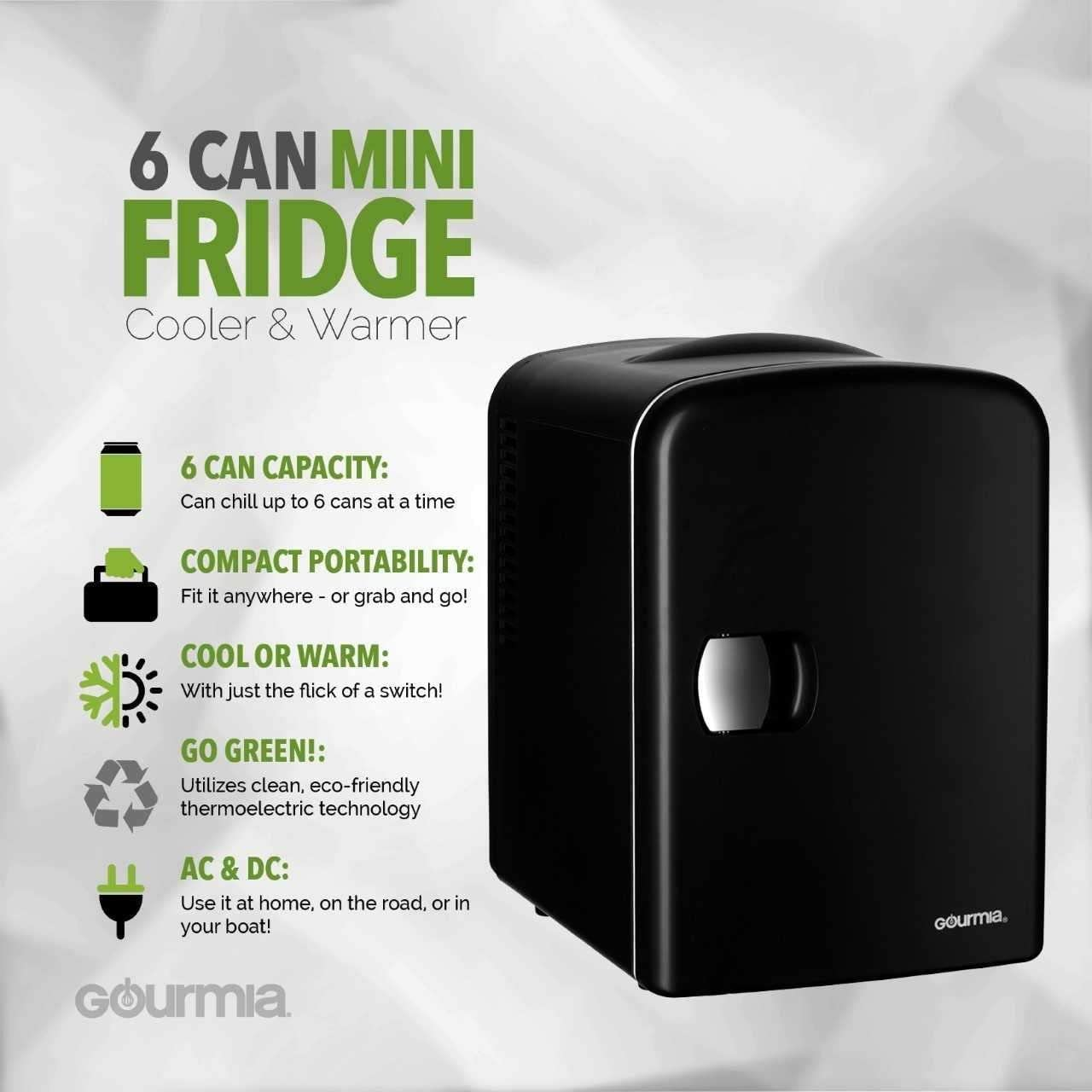 49ltr Compact Refrigerator Holds 45 x 330ml Cans Energy Rating A Frostbite Mini Fridge Black