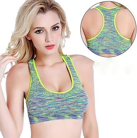 XYSQWZ Sujetadores Deportivos Confort Sujetador Mujeres para Niñas En Yoga Bralette Ocio Stretch Crop Tops Chaleco 2/3 Pack B S: Amazon.es: Deportes y aire libre