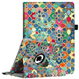 Fintie New iPad 9.7 inch 2017 / iPad Air Case - 360 Degree Rotating Stand Cover with Auto Sleep Wake for Apple New iPad 9.7 inch 2017 Tablet / iPad Air 2013 Model (Not fit iPad Air 2), Bohemian Ledge