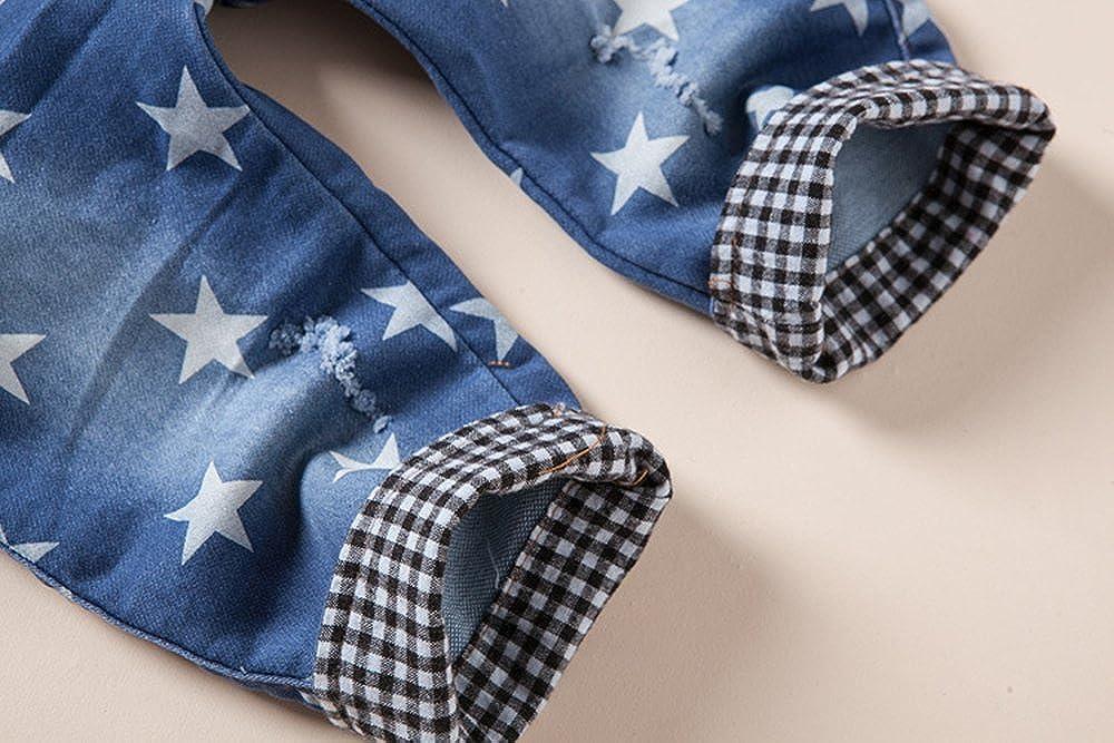 Kidscool Baby /& Little Boys//Girls Light Blue Cardigan Denim Hooded Overalls