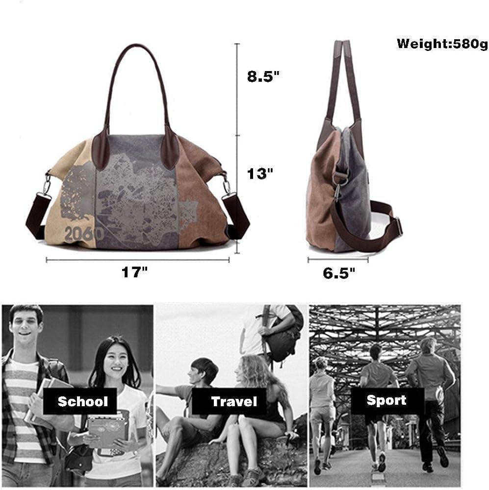 Women Vintage Canvas Top Handle Handbags Retro Large Satchel Shoulder Bag,Bolsas Femininas