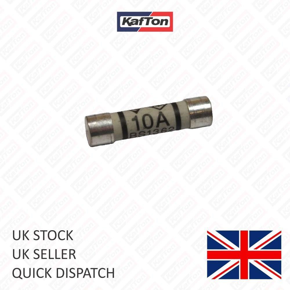 Kafton Domestic 10 Amp Household Mains Plug Fuse Electrical Cartridge Fuses