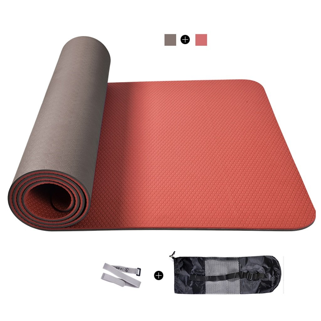 Amazon.com : Lily Odorless TPE Bicolor Yoga Mat, Wide Sit-Up ...