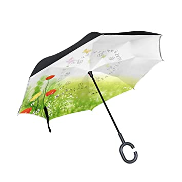 isaoa un paraguas grande puede paraguas resistente al viento doble capa construcción invertido plegable paraguas paraguas