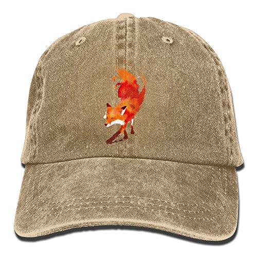 Unisex Baseball Cap Red Fox Denim Hat Adjustable Cotton Sport Strap Cap for $<!--$9.90-->