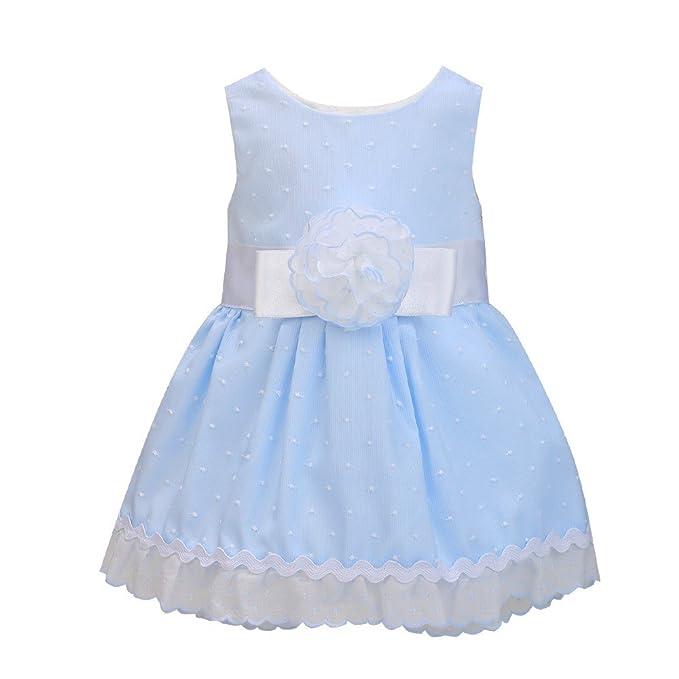 Vestido bebé niña azul ABRIL _ vestidos bebé niña fiesta, vestido niña elgante, vestido
