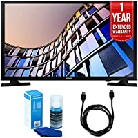 Samsung UN28M4500 27.5 720p Smart LED TV (2017 Model) + 1 Year Extended Warranty + 6ft High Speed HDMI Cable (Black) + Universal Screen Cleaner (Large Bottle) for LED TVs