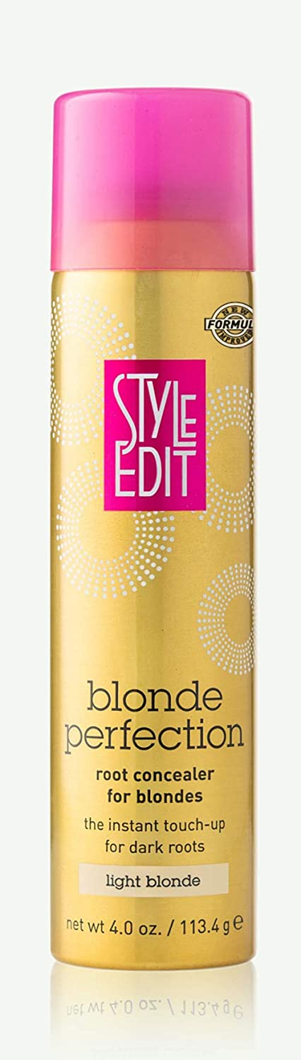 Style Edit LIGHT BLONDE Root Concealer Touch Up Spray | Instantly Covers Grey Roots | Professional Salon Quality Cover Up Hair Products for Women |4 Ounce (Pack of 1)