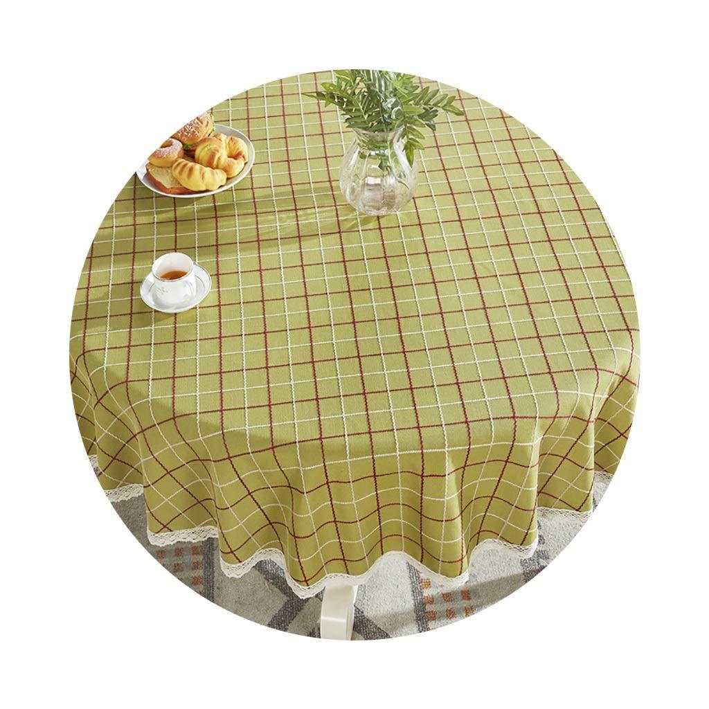 YTJ-JP 円形のテーブルクロス家庭用レストランに適した厚いヨーロッパの円形のコーヒーテーブルクロス (Color : A, Size : 160cm) 160cm A B07SL433JV