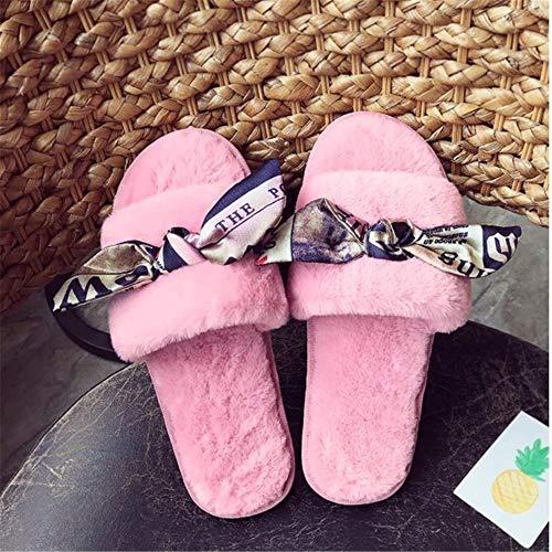 Otoño De Felpa Mujeres Havanadd Zapatillas Tamaño Para color Negro Piso Eu Interiores Rosado Las Señoras 38 Algodón Antideslizantes Sx0Xddqnw