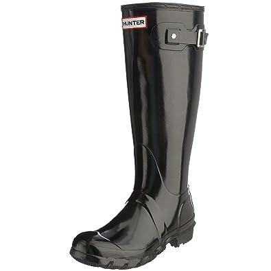 hunter Original Tall Black Gloss Wellies Boots Size 3-8  Amazon.co ... ad72f480bd