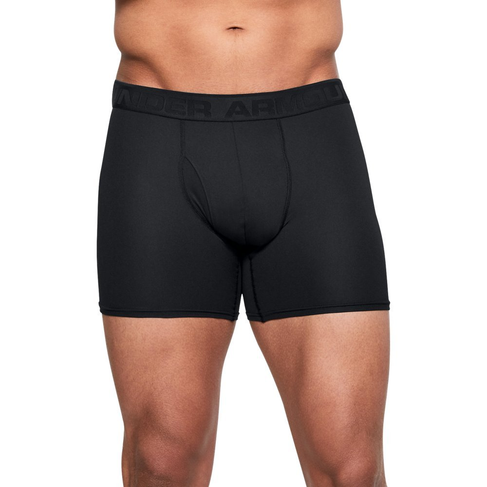 Under Armour Men's Threadborne 6'' Boxerjock, Black (001)/Black, X-Large