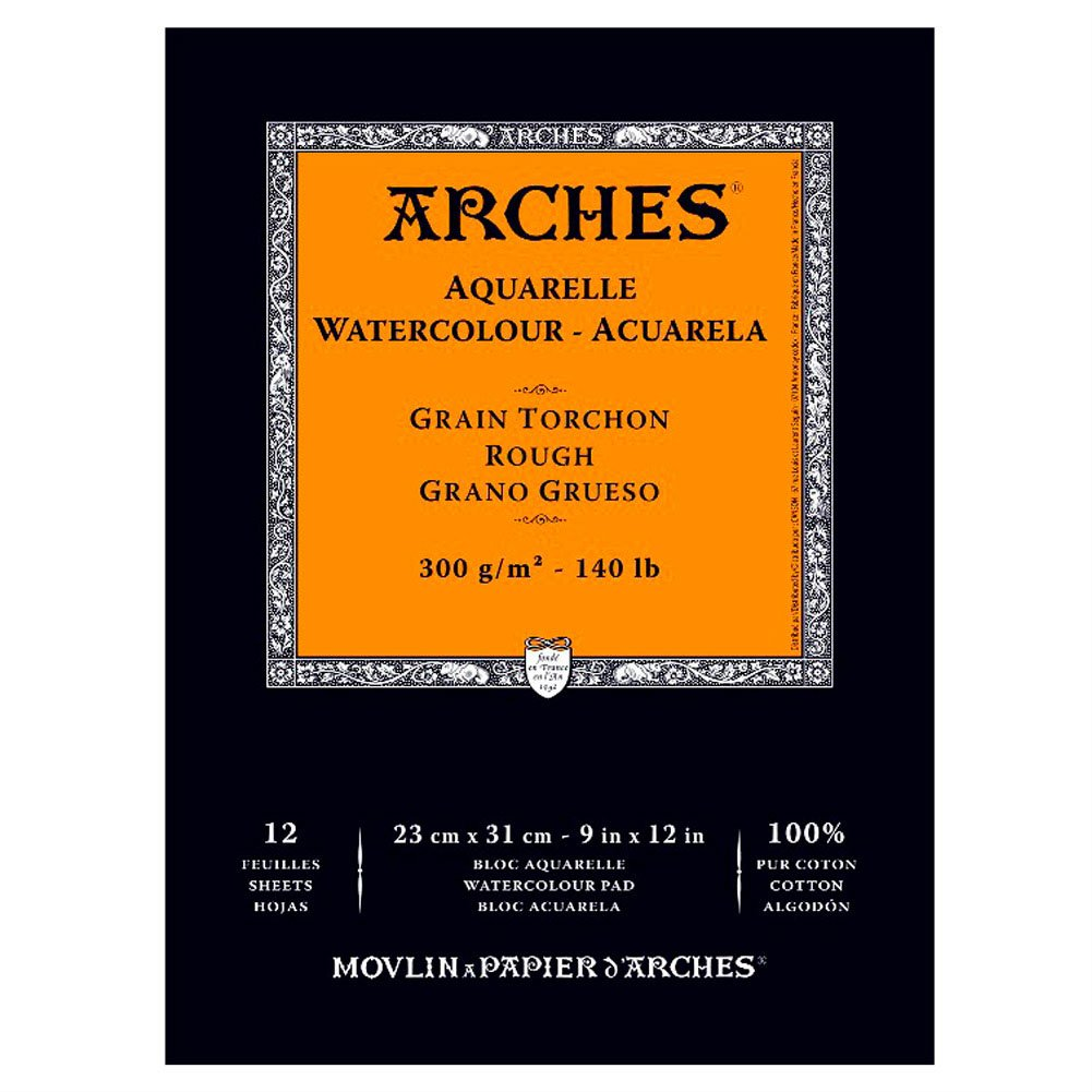 Arches Watercolor Pad, Rough 9''X12'', 9'' x 12'' by Arches
