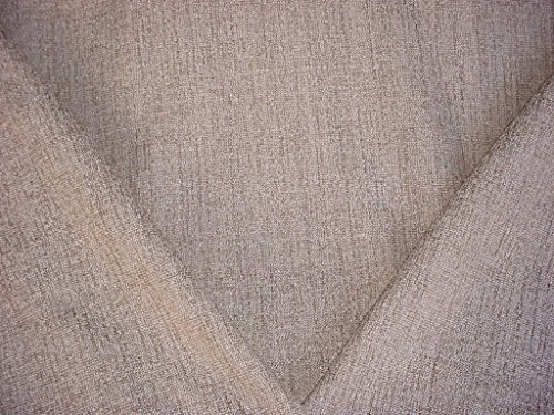 44H5 - Oyster / White / Taupe Linen Boucle Tweed Plains Strie Designer Upholstery Drapery Fabric - By the ()