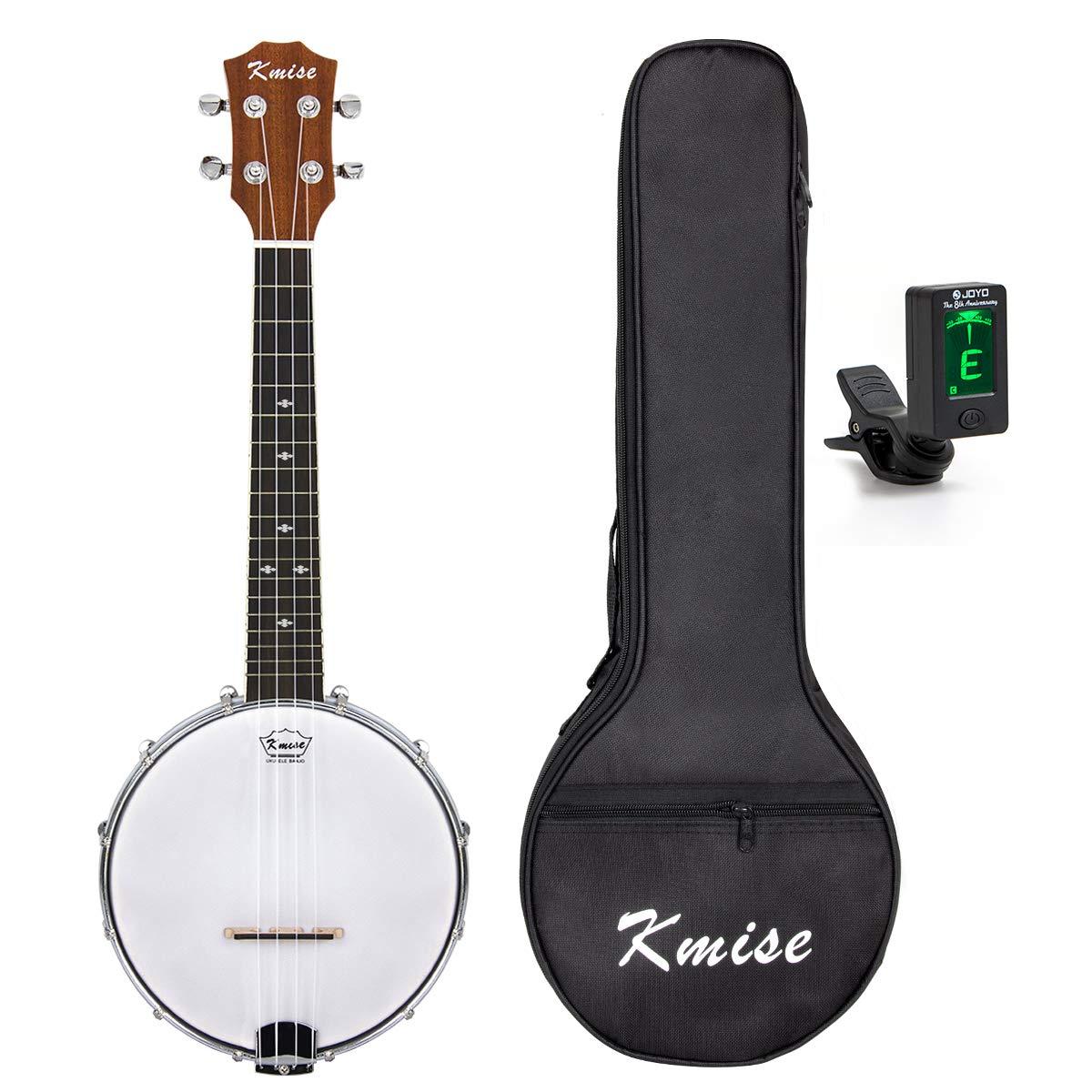 Kmise 4 String Banjo Ukulele Uke Concert 23 Inch Size Sapele With Bag Tuner  (MI1869)