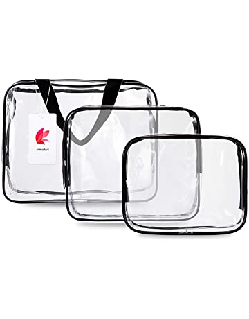 FOTEMIX Toiletry Bags 3 in 1 Gift Makeup Bags   Cases Plastic Bag Clear PVC  Travel 642322b629d8c