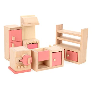 cheap wooden dollhouse furniture. Wooden Dollhouse Furniture Kitchen Toy Set Cheap E