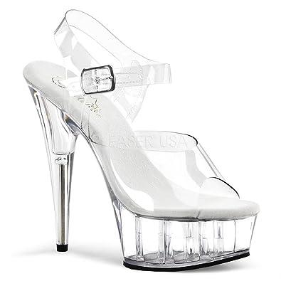 813af40eb2b77 Pleaser Women's Delight-608 Ankle-Strap Sandal