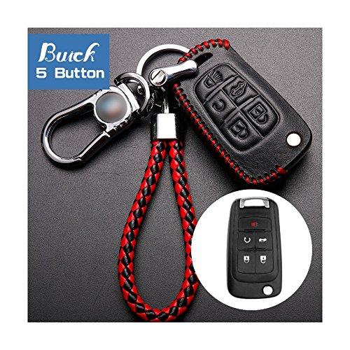 Piel de Vaca atonix coche 5 Botón Key Entry Fob llavero de ...