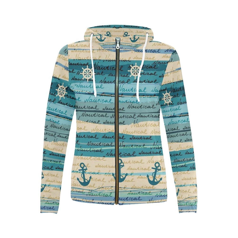 InterestPrint Custom Women's Zipper Hoodies Sweatshirt With Design
