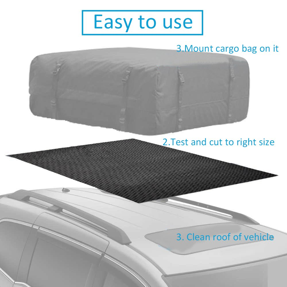 100*90 CM//3.94*35.43 Inch Roof Cargo Bag Non-slip Protective Mat for Car