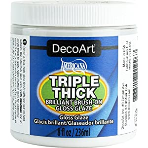 DecoArt TG01-36 Triple Thick Gloss Glaze, 8-Ounce Triple Thick Gloss Glaze (Jar)