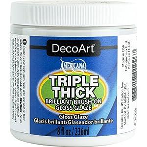 DecoArt TG01-36 Triple Thick Gloss Glaze, 8-Ounce Triple Thick Gloss Glaze (Jar)