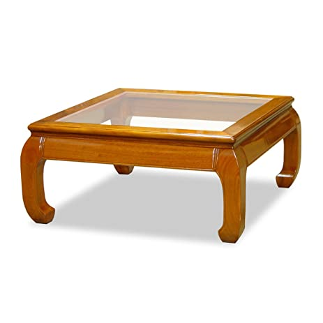 Amazoncom China Furniture Online Rosewood Coffee Table Inches - 36 inch square glass coffee table