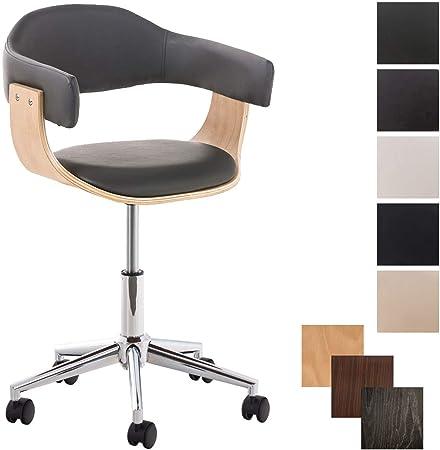 Clp Chaise De Bureau Design Brugge Similicuir I Fauteuil De Bureau Ergonomique Hauteur Reglable I Hauteur Assise 46 57 Cm I Couleur Gris Couleur Du