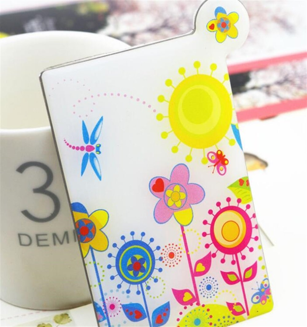 Yingealy Childrens Mirror Mini Rectangle Simple Pattern Small Glass Mirrors Circles for Crafts Decoration Cosmetic Accessory