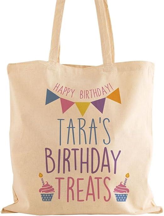 Personalizado Bolsa de cumpleaños Treats algodón niña ...