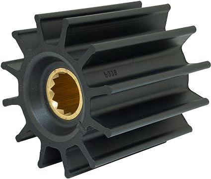 Brass Insert 12 Blade Jabsco 17936-0001-P Neoprene 1 Shaft 3-3//4 Diameter Drive Type 7 3-1//2 Width
